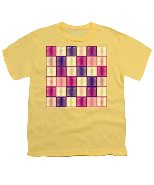 Marsala Ceramic Tiles - Square Youth T-Shirt by Shelly Weingart