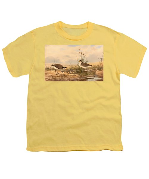 Masked Lapwing Youth T-Shirt by Mountain Dreams