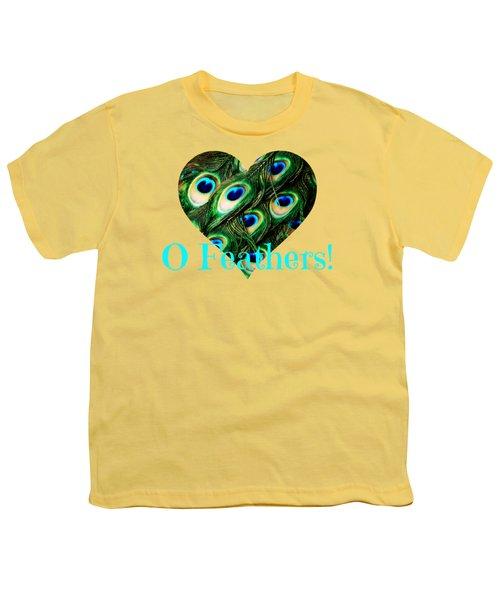 O Feathers Youth T-Shirt by Anita Faye