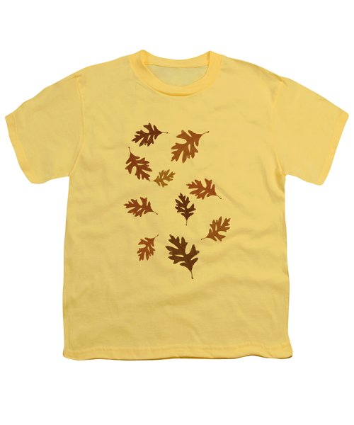 Oak Leaves Art Youth T-Shirt by Christina Rollo