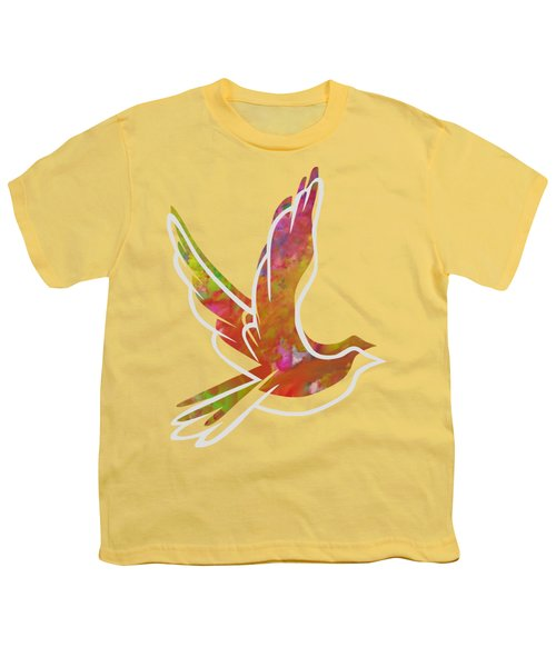 Part Of Peace Dove Youth T-Shirt by Priscilla Wolfe