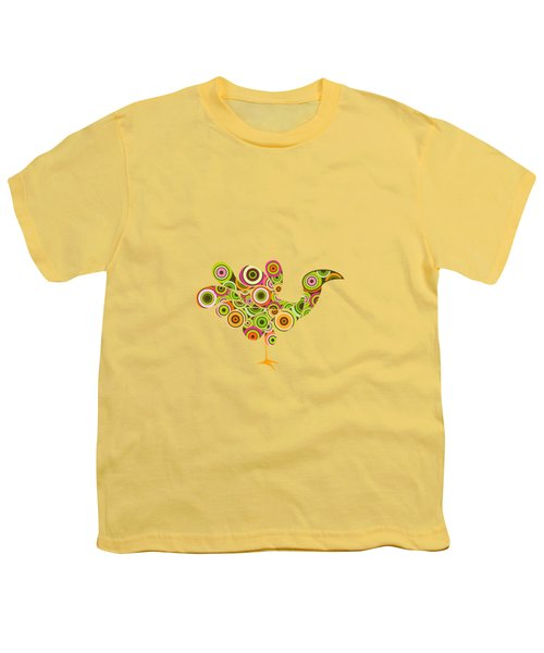 Peafowl Youth T-Shirt by Bekare Creative
