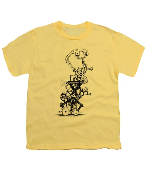 Rat Reverse-cycle Steam Engine Youth T-Shirt by Kim Gauge