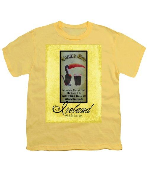 Seans Bar Guinness Pub Sign Athlone Ireland Youth T-Shirt by Teresa Mucha