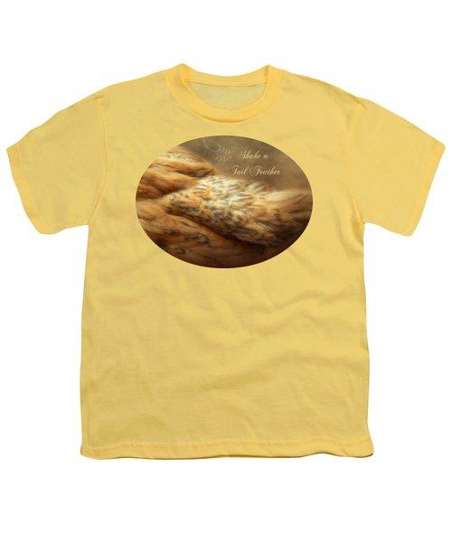 Shake A Tail Feather Youth T-Shirt by Anita Faye