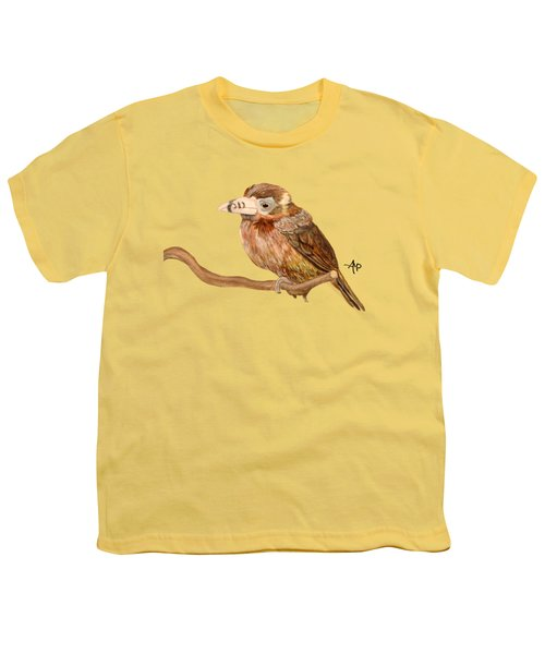 Spot-billed Toucanet Youth T-Shirt by Angeles M Pomata