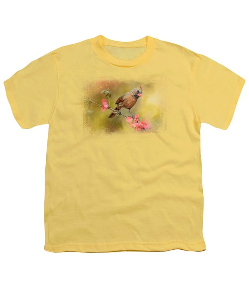 Spring Cardinal 1 Youth T-Shirt by Jai Johnson