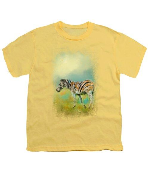 Summer Zebra 2 Youth T-Shirt by Jai Johnson