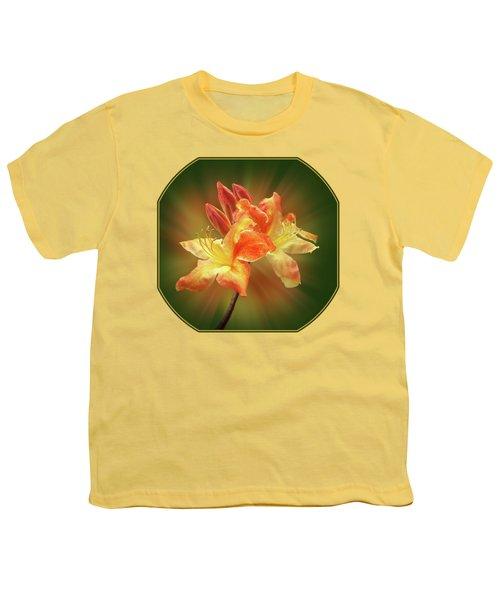 Sunburst Orange Azalea Youth T-Shirt by Gill Billington