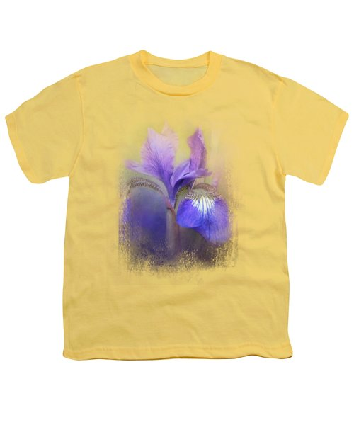 Tiny Iris Youth T-Shirt by Jai Johnson