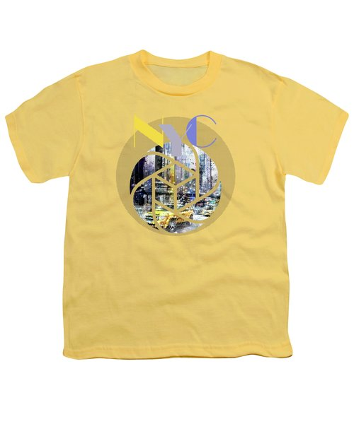 Trendy Design New York City Geometric Mix No 3 Youth T-Shirt by Melanie Viola