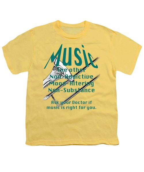Trombone Music Is Right For You 5495.02 Youth T-Shirt by M K  Miller