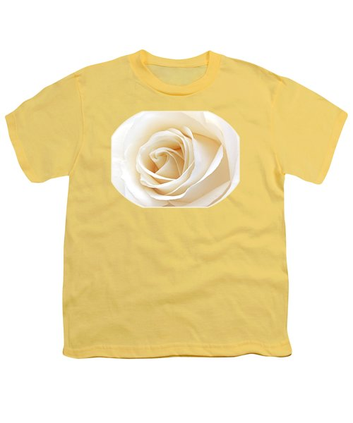 White Rose Heart Youth T-Shirt by Gill Billington