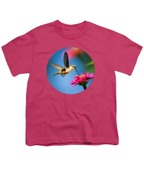 Art Of Hummingbird Flight Youth T-Shirt by Christina Rollo
