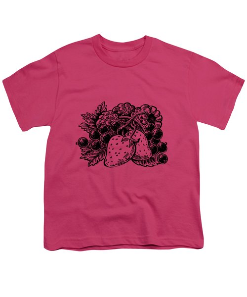 Berries From Forest Youth T-Shirt by Irina Sztukowski
