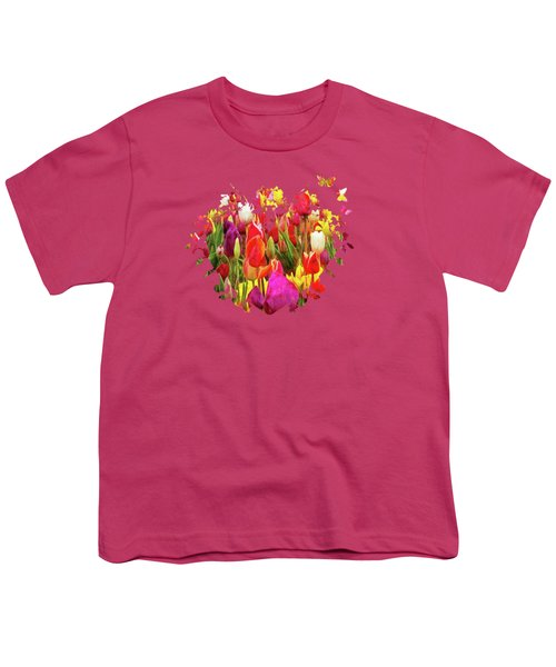 Field Of Tulips Youth T-Shirt by Thom Zehrfeld