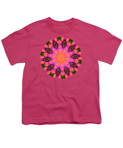 Mandala Salmon Burst - Prints With Salmon Color Background Youth T-Shirt by Hao Aiken