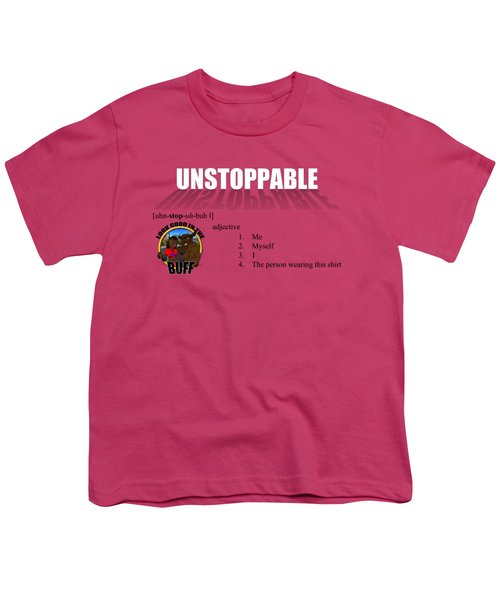 Unstoppable V1 Youth T-Shirt by Michael Frank Jr