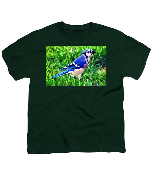 Blue Jay Youth T-Shirt by Stephen Younts