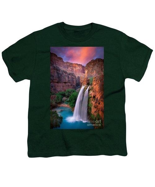 Havasu Falls Youth T-Shirt by Inge Johnsson
