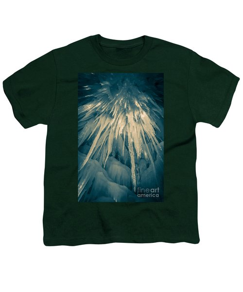 Ice Cave Youth T-Shirt by Edward Fielding