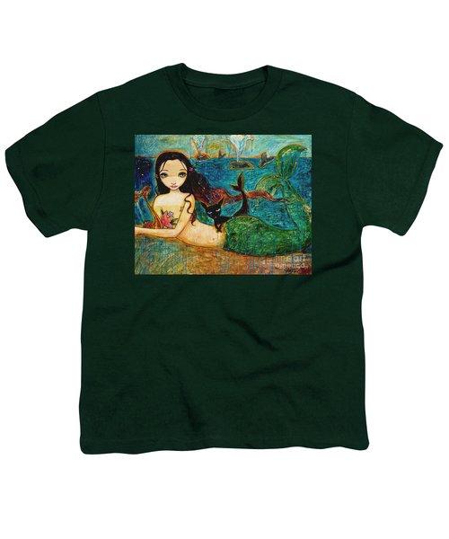 Little Mermaid Youth T-Shirt by Shijun Munns