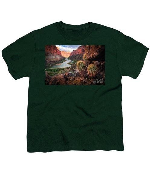 Nankoweap Cactus Youth T-Shirt by Inge Johnsson