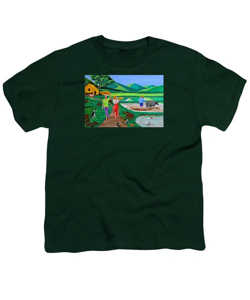 One Beautiful Morning In The Farm Youth T-Shirt by Cyril Maza