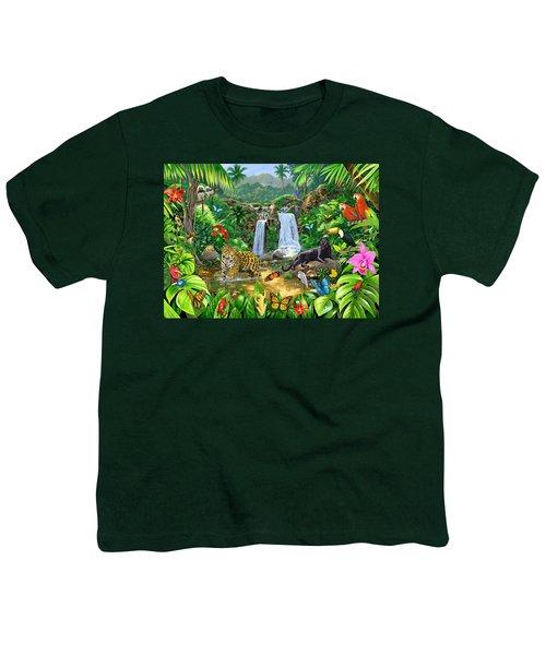 Rainforest Harmony Variant 1 Youth T-Shirt by Chris Heitt