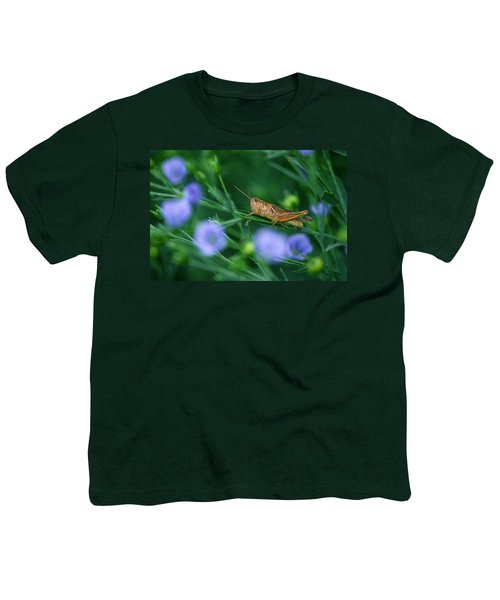 Grasshopper Youth T-Shirt by Mike Grandmailson
