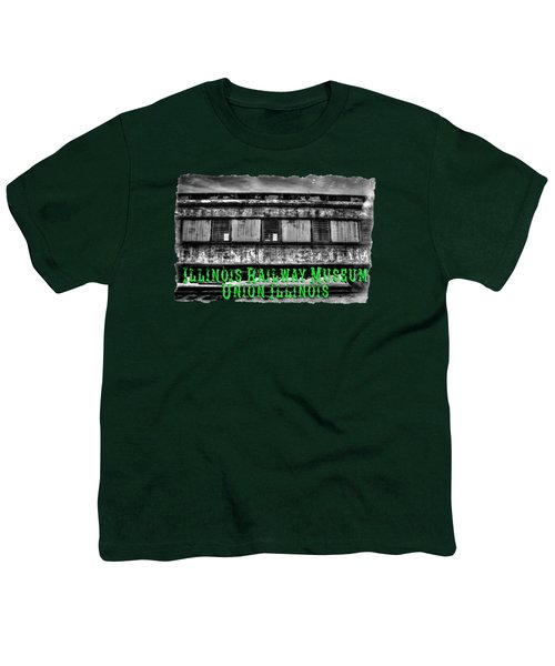 Abandoned Circus Transport Car Youth T-Shirt by Roger Passman