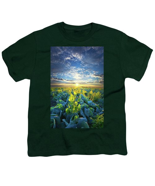 All Joined As One Youth T-Shirt by Phil Koch