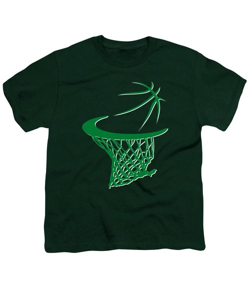Celtics Basketball Hoop Youth T-Shirt by Joe Hamilton
