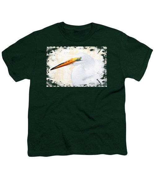 Egret Thoughts Signature Series Youth T-Shirt by Di Designs