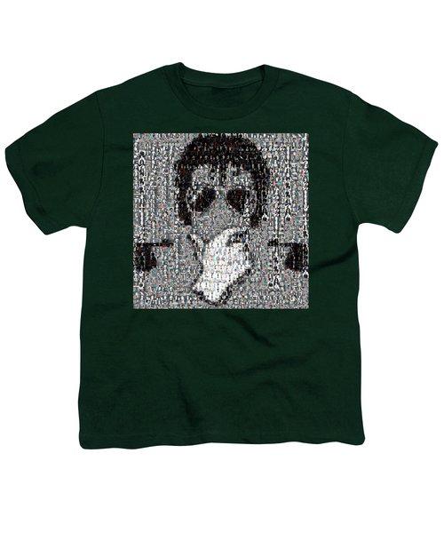 Michael Jackson Glove Montage Youth T-Shirt by Paul Van Scott
