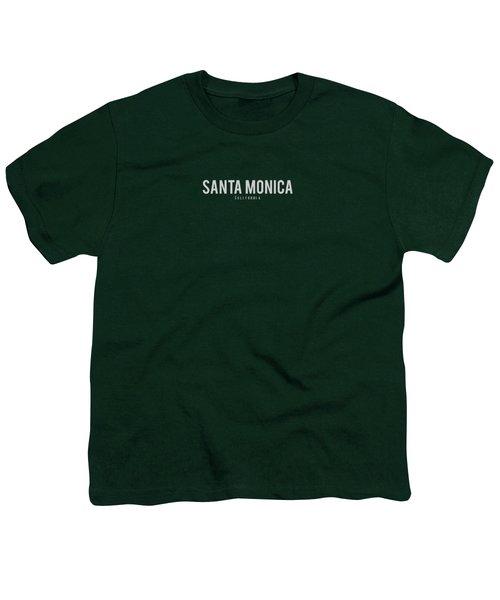 Santa Monica California Youth T-Shirt by Sean McDunn