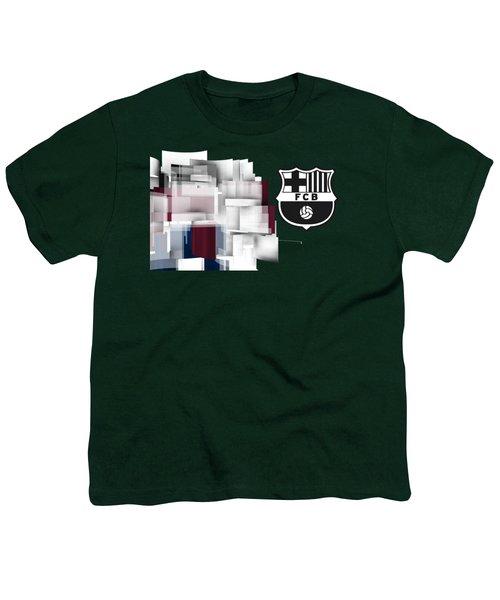 Tribute To Fc Barcelona 7 Youth T-Shirt by Alberto RuiZ