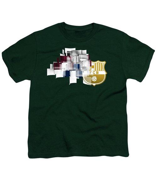 Tribute To Fc Barcelona 6 Youth T-Shirt by Alberto RuiZ