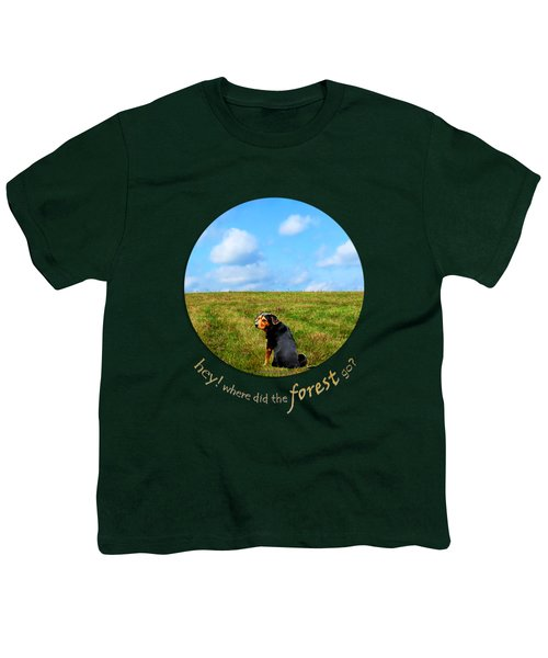 Where Did The Forest Go Youth T-Shirt by Christina Rollo
