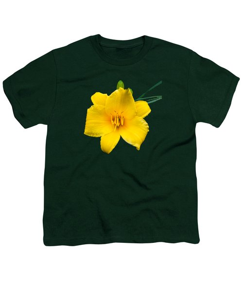 Yellow Daylily Flower Youth T-Shirt by Christina Rollo