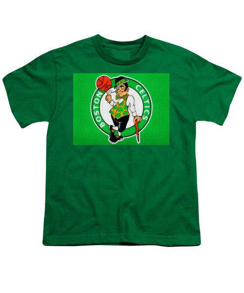 Boston Celtics Canvas Youth T-Shirt by Dan Sproul
