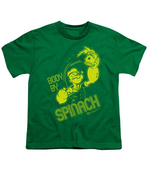 Popeye - Body By Spinach Youth T-Shirt by Brand A