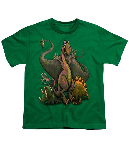 Dinosaurs Youth T-Shirt by Kevin Middleton