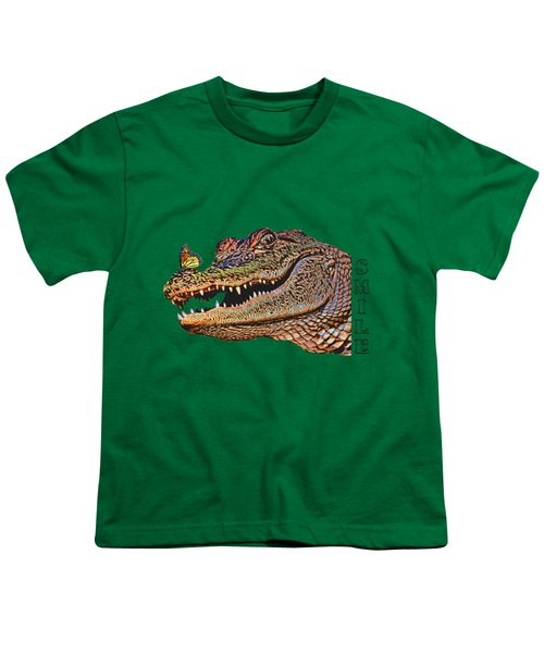 Gator Smile Youth T-Shirt by Mitch Spence