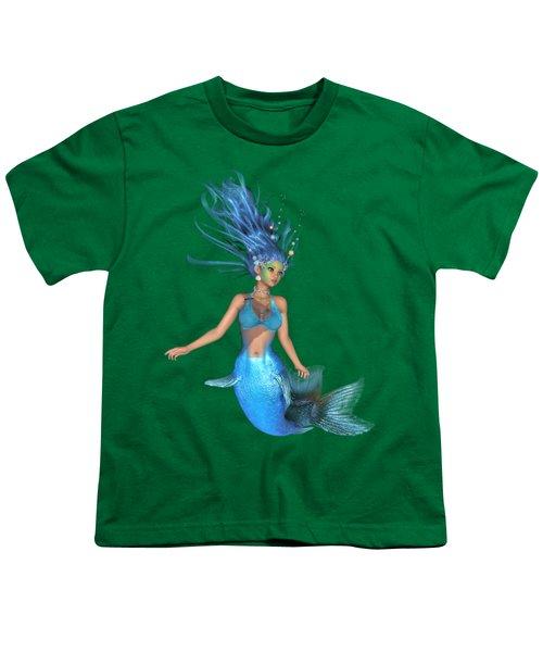 Mermaid Ruby Blue Youth T-Shirt by Diane Leenknegt