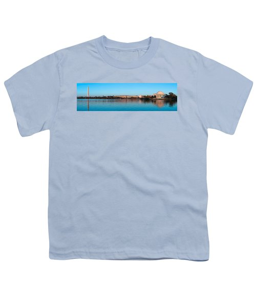 Jefferson Memorial And Washington Youth T-Shirt by Panoramic Images