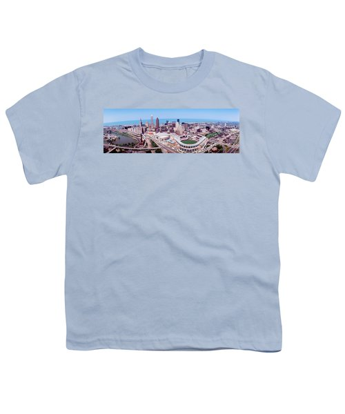 Aerial View Of Jacobs Field, Cleveland Youth T-Shirt by Panoramic Images