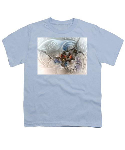 Cloud Cuckoo Land-fractal Art Youth T-Shirt by Karin Kuhlmann