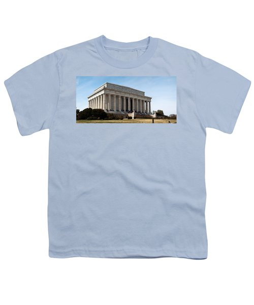 Facade Of The Lincoln Memorial, The Youth T-Shirt by Panoramic Images