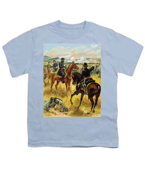 Major General George Meade At The Battle Of Gettysburg Youth T-Shirt by Henry Alexander Ogden
